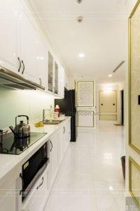 thi công nội thất tân cổ điển vinhomes - nhà bếp