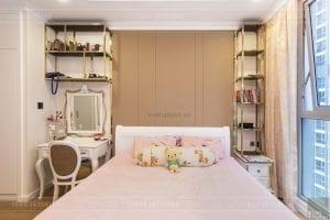 thi công nội thất tân cổ điển vinhomes - phòng ngủ
