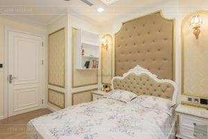 thi công nội thất tân cổ điển vinhomes - phòng ngủ master