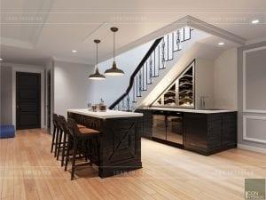 thiết kế quầy bar mini trong bếp 7