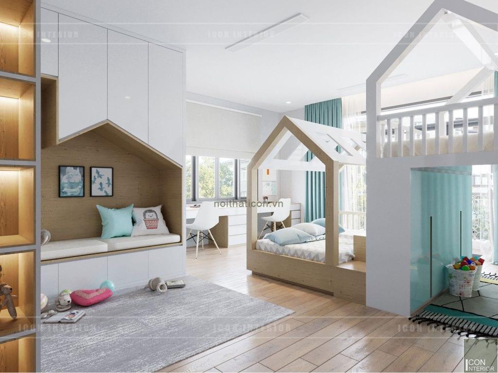 thiết kế biệt thự nghỉ dưỡng - phòng giải trí cho bé