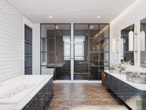 thiết kế phòng tắm biệt thự hiện đạii