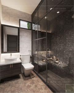 thiết kế biệt thự nghỉ dưỡng - phòng xông hơi