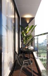 thiết kế nội thất căn hộ đẹp - ban công