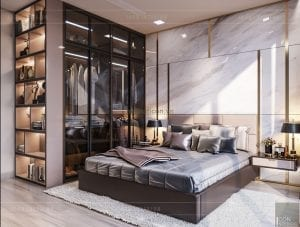 thiết kế nội thất căn hộ đẹp - phòng master