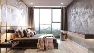 thiết kế nội thất căn hộ đẹp - phòng ngủ master