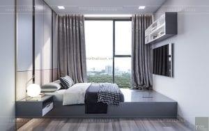 thiết kế nội thất căn hộ đẹp - phòng ngủ nhỏ