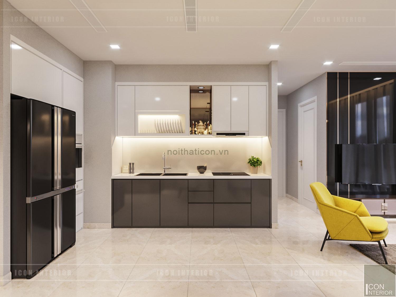 thiết kế nội thất căn hộ đẹp - nhà bếp
