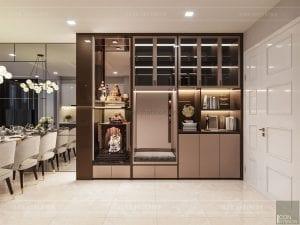 thiết kế nội thất căn hộ đẹp - tiền sảnh