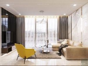 thiết kế nội thất căn hộ đẹp - phòng khách
