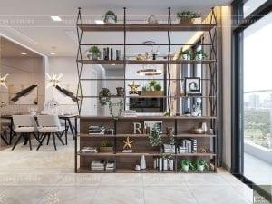 thiết kế phòng bếp căn hộ vinhomes ba son