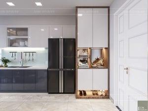 thiết kế tiền sảnh căn hộ vinhomes ba son