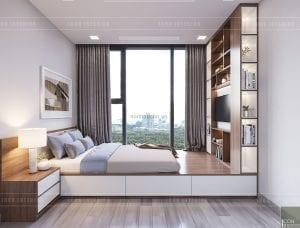 thiết kế phòng ngủ nhỏ căn hộ vinhomes ba son