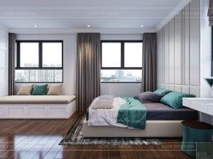 thiết kế căn hộ wilton tower bình thạnh - phòng ngủ master
