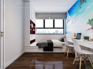 thiết kế căn hộ wilton tower bình thạnh - phòng ngủ nhỏ