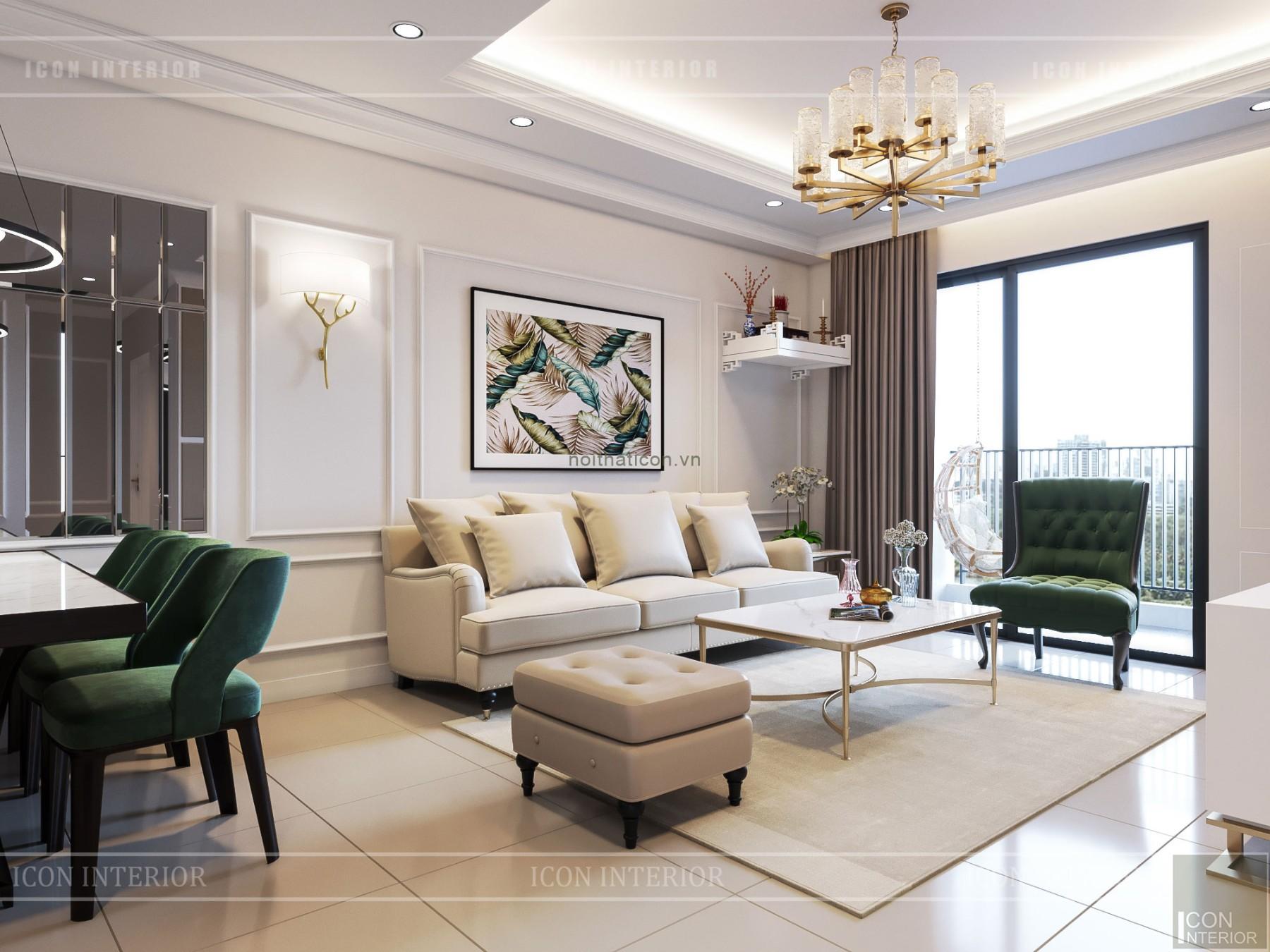thiết kế căn hộ wilton tower bình thạnh - phòng khách