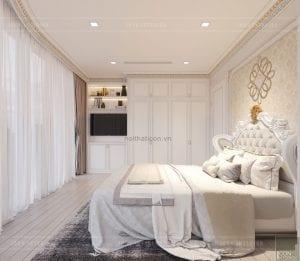 thiết kế nội thất tân cổ điển chung cư - phòng ngủ 6