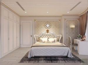 thiết kế nội thất tân cổ điển chung cư - phòng ngủ 7
