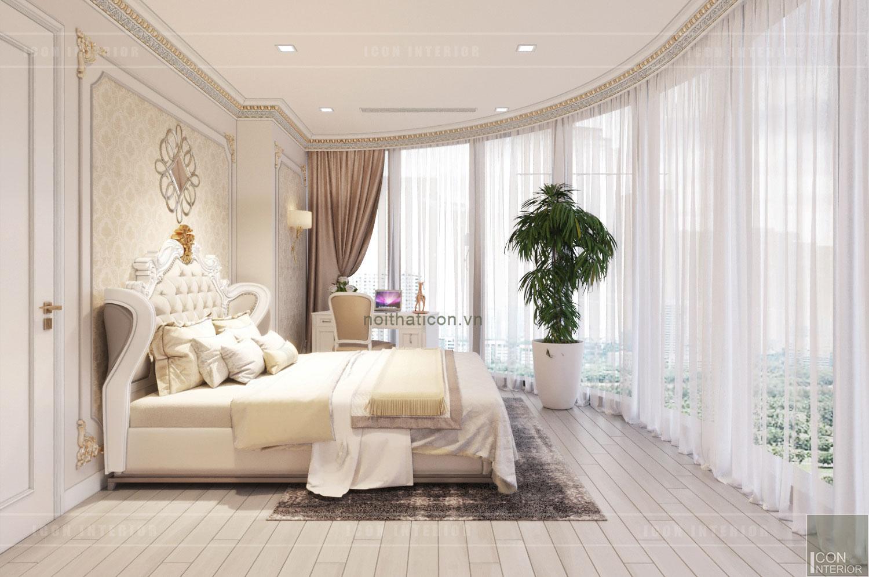 thiết kế nội thất tân cổ điển chung cư - phòng ngủ 8