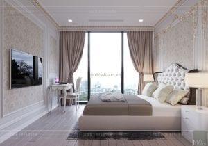 thiết kế nội thất tân cổ điển chung cư - phòng ngủ 9