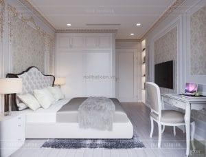 thiết kế nội thất tân cổ điển chung cư - phòng ngủ 10