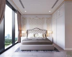 thiết kế nội thất tân cổ điển chung cư - phòng ngủ 11