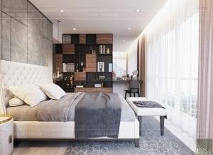 thiết kế phòng ngủ chung cư gateway thảo điền