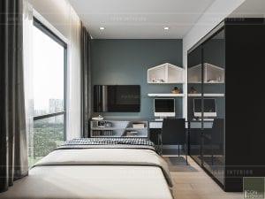 thiết kế phòng ngủ nhỏ chung cư gateway thảo điền