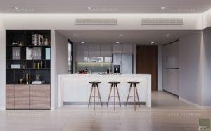 thiết kế nhà bếp chung cư gateway thảo điền