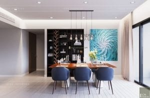 thiết kế phòng ăn chung cư gateway thảo điền