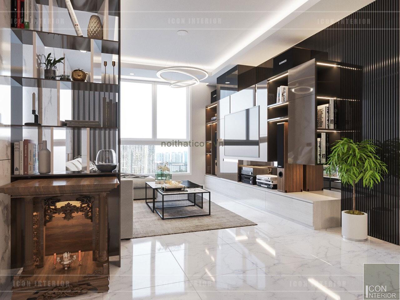 thiết kế nội thất nhà chung cư đẹp - phòng khách