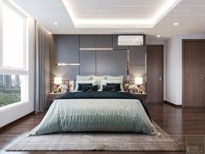 thiết kế nội thất nhà chung cư đẹp - phòng ngủ master