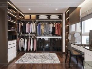 thiết kế nội thất nhà chung cư đẹp - phòng thay đồ