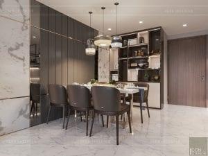 thiết kế nội thất nhà chung cư đẹp - phòng ăn