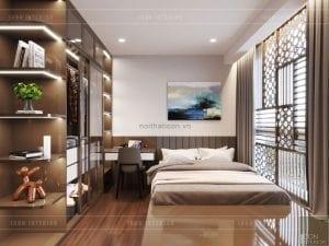thiết kế nội thất nhà chung cư đẹp - phòng ngủ nhỏ