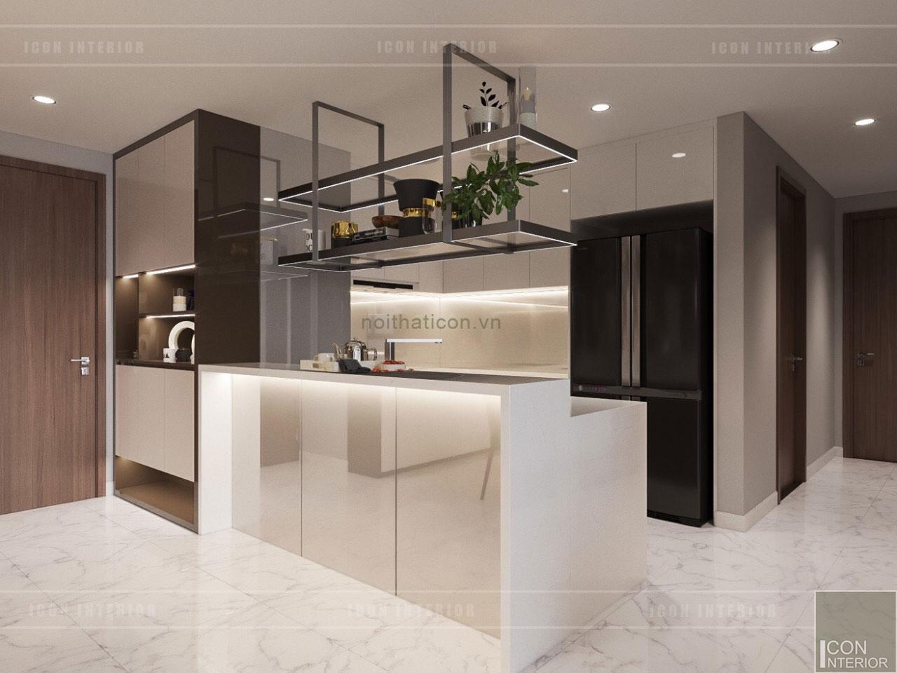 thiết kế nội thất nhà chung cư đẹp - nhà bếp