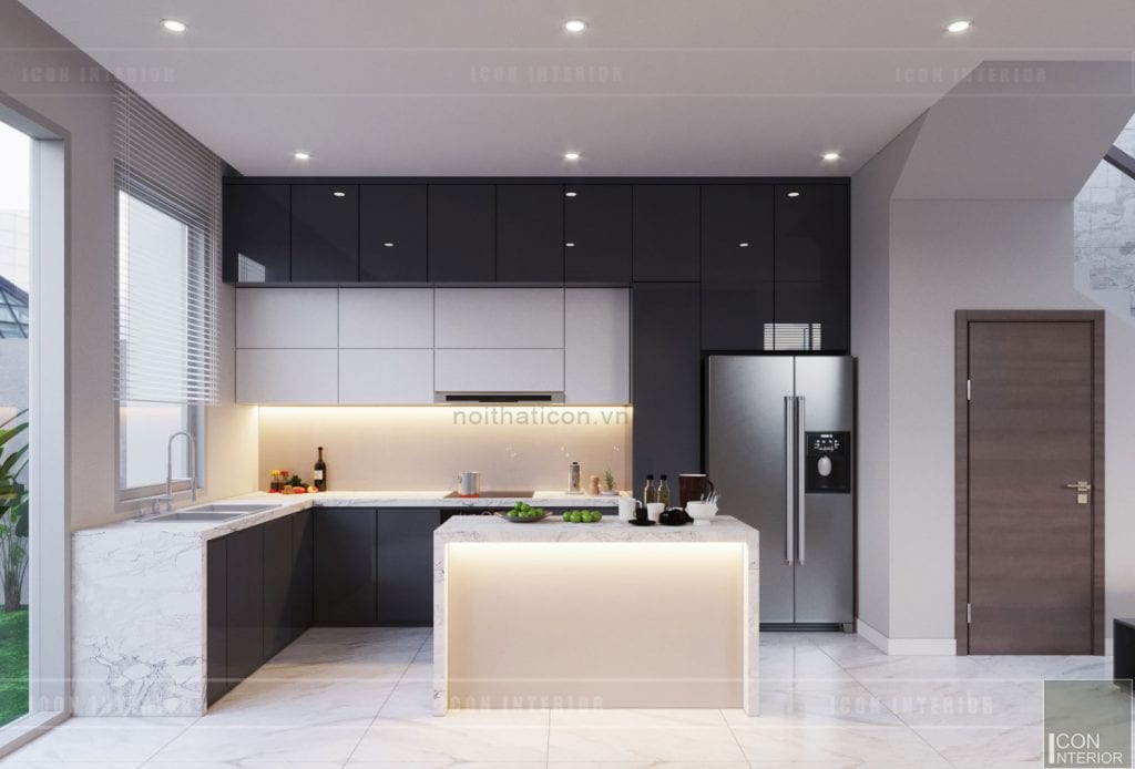 thiết kế quầy bar mini trong bếp 1