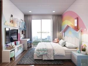 thiết kế biệt thự palm city - phòng bé gái