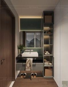 thiết kế biệt thự palm city - phòng vệ sinh bé