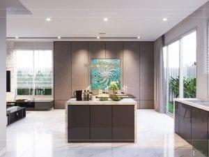 thiết kế biệt thự palm city - nhà bếp