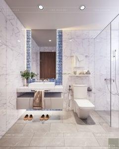 thiết kế biệt thự palm city - phòng vệ sinh bé gái