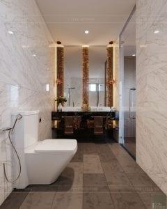 thiết kế biệt thự palm city - phòng tắm