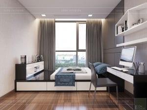phòng ngủ nhỏ vinhomes central park 7