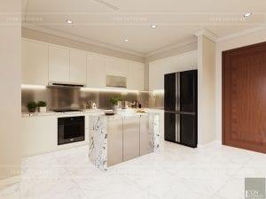 thiết kế nhà bếp căn hộ landmark 1 vinhomes central park