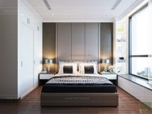 thiết kế phòng master căn hộ landmark 1 vinhomes central park