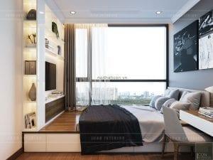 thiết kế phòng ngủ nhỏ căn hộ landmark 1 vinhomes central park