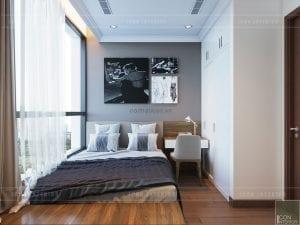 thiết kế phòng ngủ căn hộ landmark 1 vinhomes central park