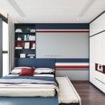 thiết kế căn hộ vinhomes central park saigon phòng ngủ nhỏ