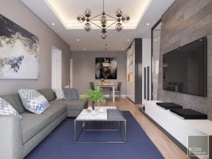 thiết kế nội thất chung cư 1 phòng ngủ