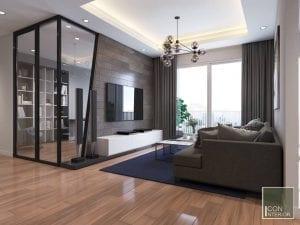 thiết kế chung cư mini 50m2 đẹp